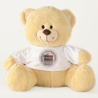 Beary Best Birthday Wishes ~ Custom Name Large テディベア