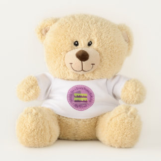 Beary Best Birthday Wishes ~ Custom Name Small テディベア
