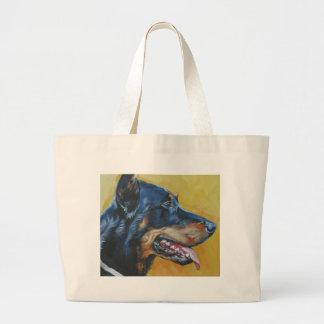 beauceronのファインアートの絵画 ラージトートバッグ