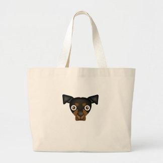 Beauceronの品種-私の犬のオアシス ラージトートバッグ