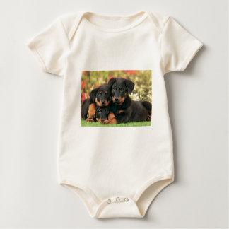 Beauceronの子犬のベストの芽 ベビーボディスーツ