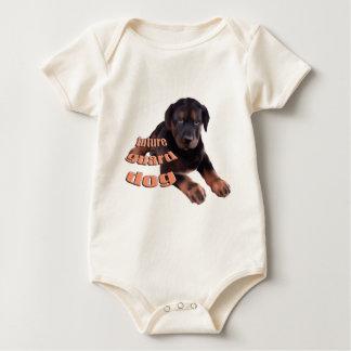 Beauceronの子犬の番犬 ベビーボディスーツ