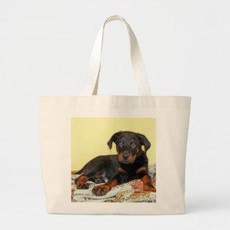 beauceronの子犬 ラージトートバッグ