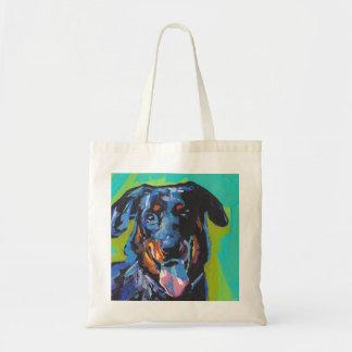 beauceron犬のポップアート トートバッグ