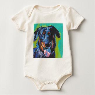 beauceron犬のポップアート ベビーボディスーツ