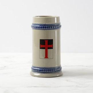 Beausantのマグ及びジョッキのTemplarの十字 ビールジョッキ