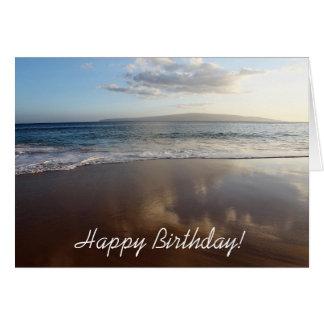 Beautiful Beach Happy Birthday Card カード