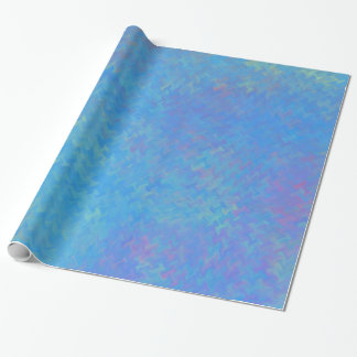 Beautiful Blue Marbled Paper Look ラッピングペーパー