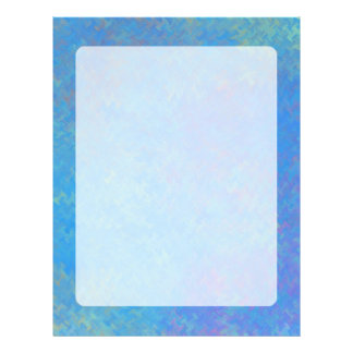 Beautiful Blue Marbled Paper Look レターヘッド