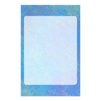 Beautiful Blue Marbled Paper Look 便箋
