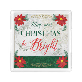 Beautiful Christmas serving Tray アクリルトレー
