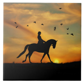 Beautiful Dressage Art Tile タイル