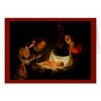 Beautiful Nativity Scene Christmas Card 1620 Image カード