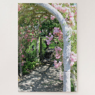 Beautiful Pink Flower Arch Puzzle ジグソーパズル
