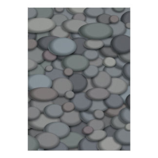 Beautiful River Rock Poster Template ポスター