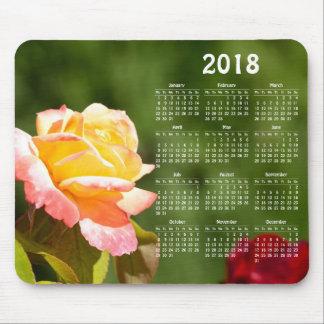 Beautiful rose 2018 calendar マウスパッド