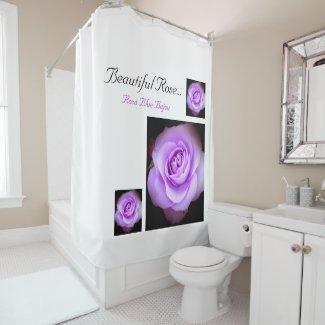 Beautiful Rose:Rosa Blue Bajou シャワーカーテン
