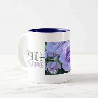 Beautiful Rose:Rosa Blue Bajou Two-Tone Coffee Mug