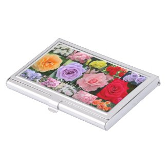 Beautiful Roses Business Card Case