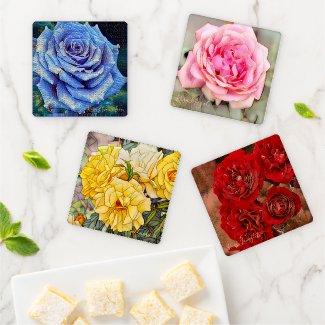 Beautiful Roses [Acrylic Coaster Set] Type-C コースターセット