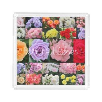 Beautiful Roses:Acrylic Tray アクリルトレー