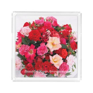 Beautiful Roses Arrangement:Acrylic Tray アクリルトレー