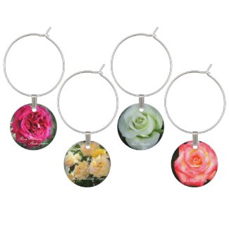 Beautiful Roses:Wine Charm(4 pieces/SET-F) ワインチャーム