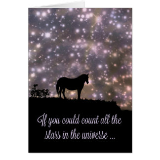 Beautiful Stars and Horse Thinking of You Card カード