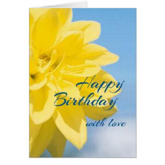 Beautiful Yellow Flower Birthday カード