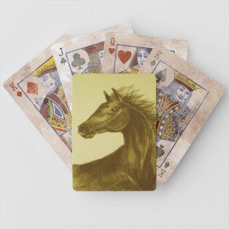 Beautyの馬のポートレートのトランプ バイスクルトランプ