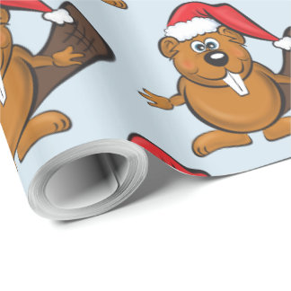Beaver christmas wrapping paper ラッピングペーパー