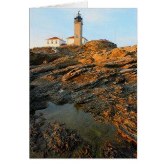 Beavertailの灯台Jamestownロードアイランド カード