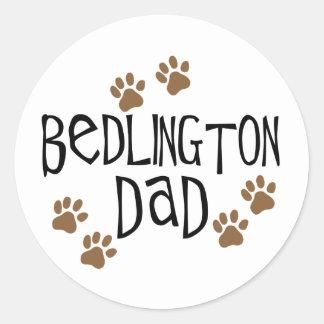 Bedlingtonのパパ ラウンドシール