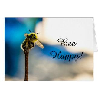 Bee Happy Bumblebee Blank Greeting Card カード