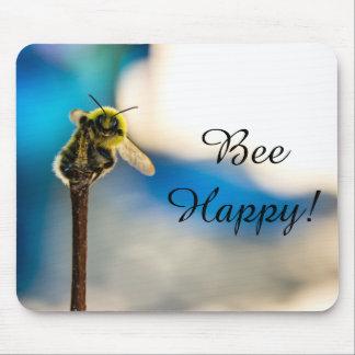 Bee Happy Bumblebee Mousepad マウスパッド