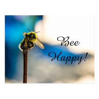 Bee Happy Bumblebee Postcard ポストカード