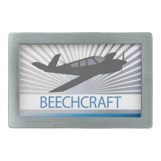Beechcraftの航空機 長方形ベルトバックル