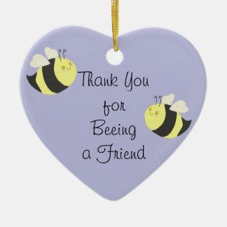 (beeing)友人のオーナメントがあることをありがとう セラミックオーナメント