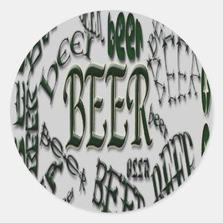 *bEeR*beer*BEERのステッカー ラウンドシール