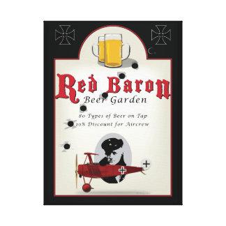 Beer Garden Sign赤い男爵 キャンバスプリント
