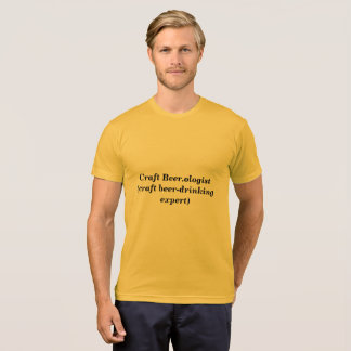 Beer.ologistの技術ビール飲む巧妙なティーを制作して下さい Tシャツ