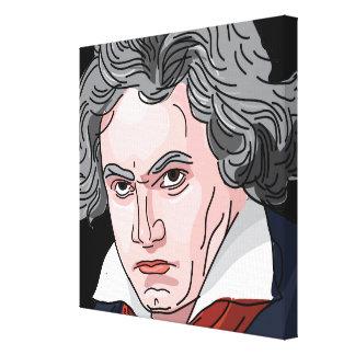 Beethoven Portrait Illustration キャンバスプリント
