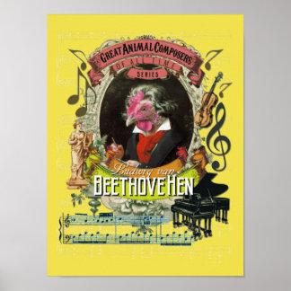 Beethoven Spoof Parody Beethovehen Hen ポスター