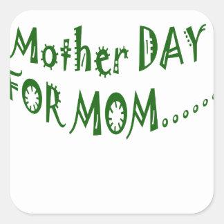 beHappyお母さんのための母の日一緒に スクエアシール
