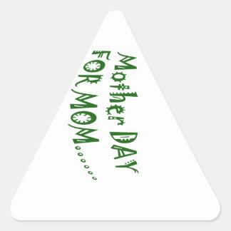 beHappyお母さんのための母の日一緒に 三角形シール