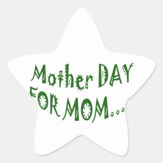 beHappyお母さんのための母の日一緒に 星シール