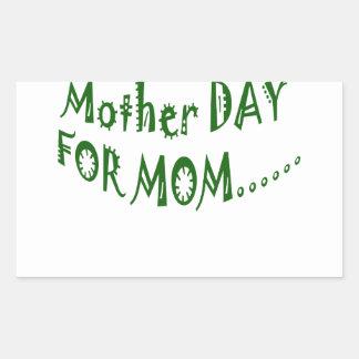 beHappyお母さんのための母の日一緒に 長方形シール
