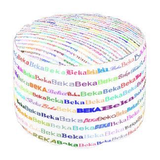 Bekaの文字デザインなIIラウンドパフ プーフ