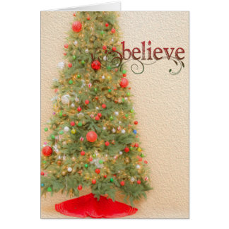 Believe In Christmas Greeting Card カード