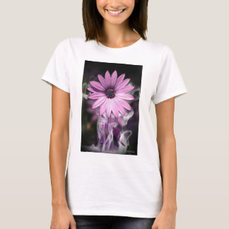 Bellaからの合われた上の紫色の花 Tシャツ